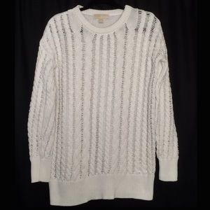 Michael Kors White Cable Knit 100% Cotton Sweater